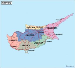 cyprus political map