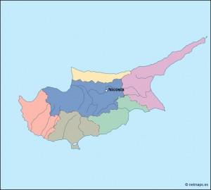 cyprus vector map