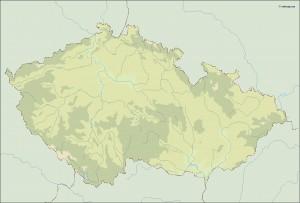 czech republic illustrator map