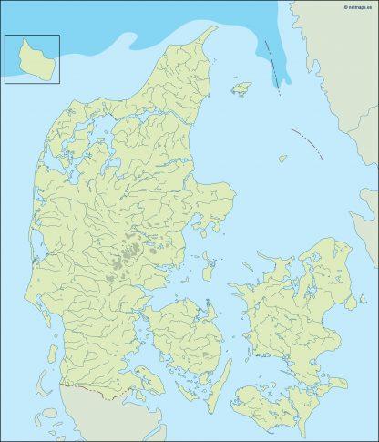 denmark illustrator map