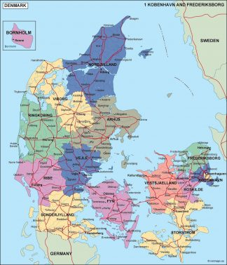 denmark political map