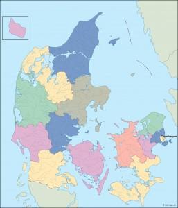 denmark vector map