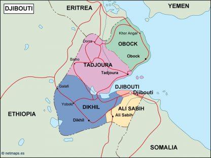 djibouti political map