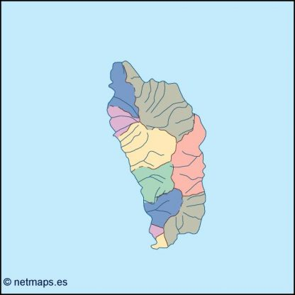 dominica blind map