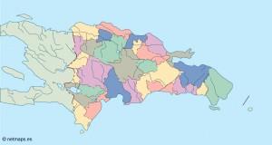 dominicana republic blind map