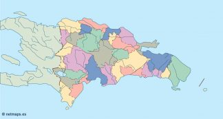 dominicana republic blind map
