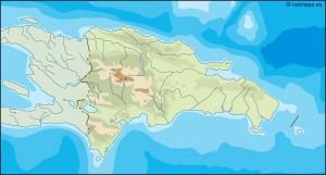 dominicana republic illustrator map