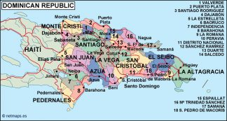 dominicana republic political map