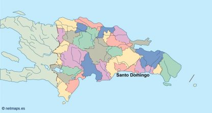dominicana republic vector map