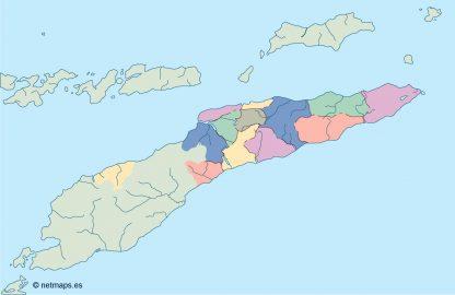 east timor blind map