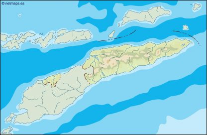 east timor illustrator map