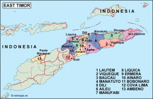 east timor political map