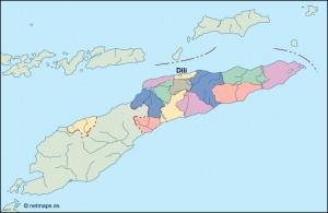 east timor vector map
