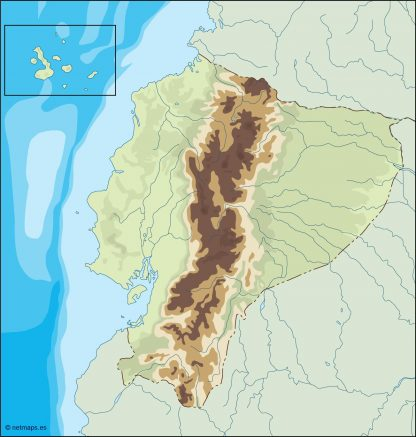 ecuador illustrator map