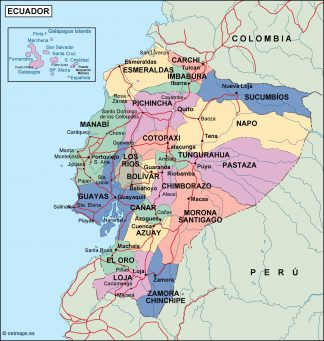 ecuador political map