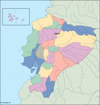 ecuador vector map