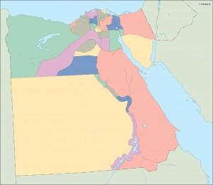 egypt blind map