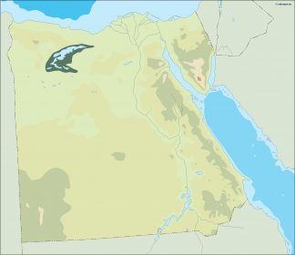 egypt illustrator map