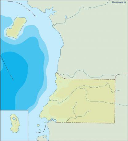 equatorial guinea illustrator map