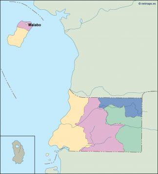equatorial guinea vector map