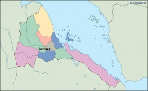 eritrea vector map