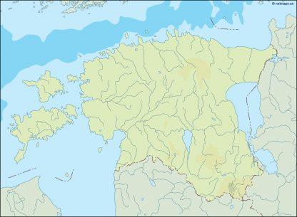 estonia illustrator map