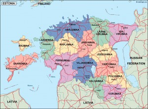 estonia political map