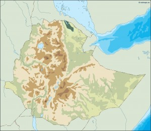ethiopia illustrator map