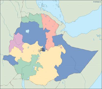 ethiopia vector map