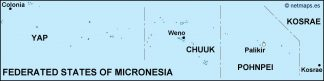 federated states of micronesia political map