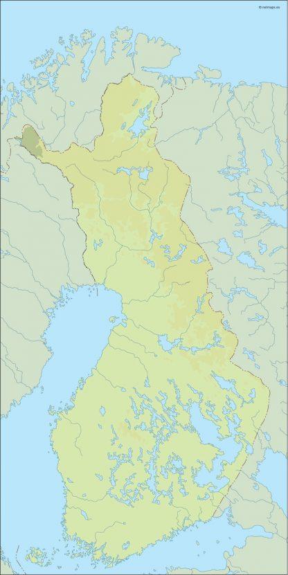 finland illustrator map