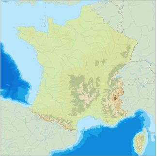 france illustrator map