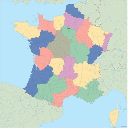 france vector map