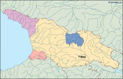 georgia vector map