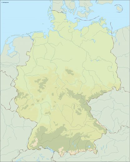 germany illustrator map