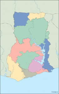 ghana blind map