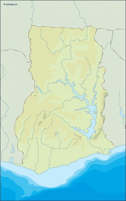 ghana illustrator map