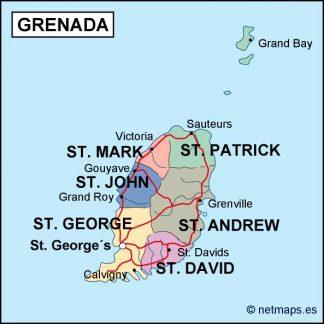 grenada political map