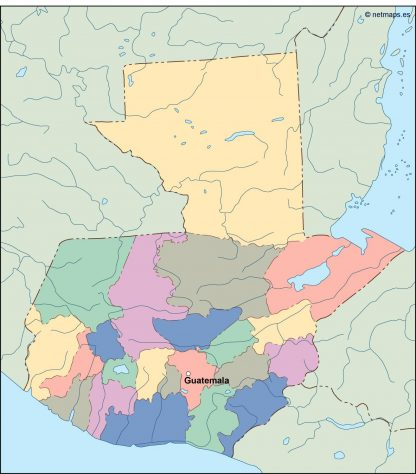 guatemala vector map