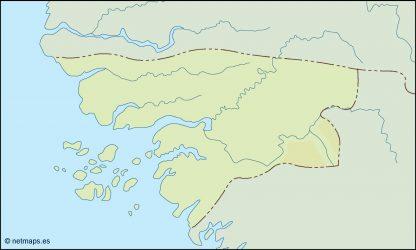 guinea bissau illustrator map