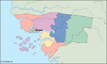 guinea bissau vector map
