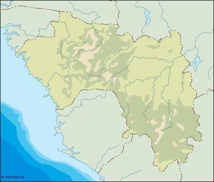 guinea illustrator map