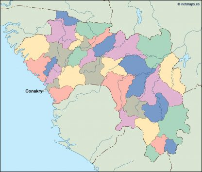 guinea vector map