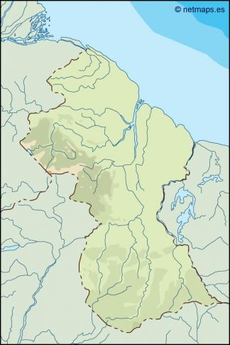 guyana illustrator map