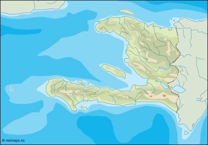 haiti illustrator map