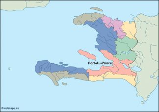 haiti vector map