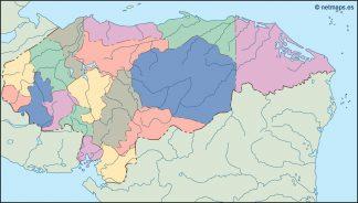 honduras blind map