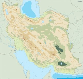 iran illustrator map