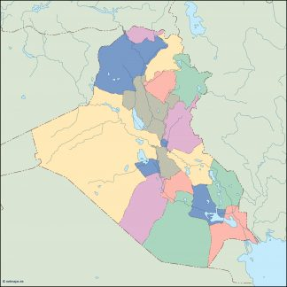 iraq blind map