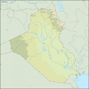 iraq illustrator map